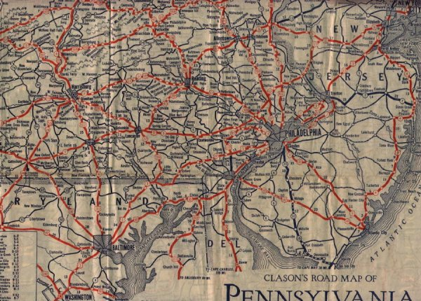 Pennsylvania State Routes Central PAMD Roads
