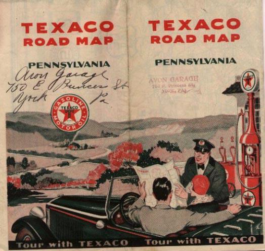 1930s Oil Company Road Maps of Pennsylvania