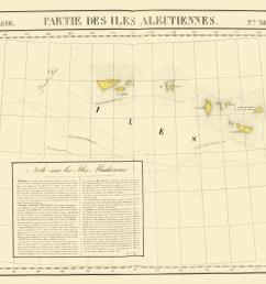 aleutian islands alaska vandermaelen 1827 23 x 27 27 [ 2371 x 2000 Pixel ]