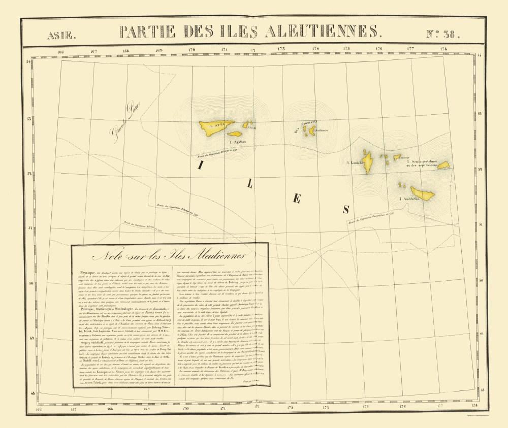 medium resolution of aleutian islands alaska vandermaelen 1827 23 x 27 27