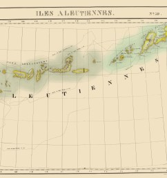 aleutian islands alaska vandermaelen 1827 23 x 28 87 [ 2511 x 2000 Pixel ]