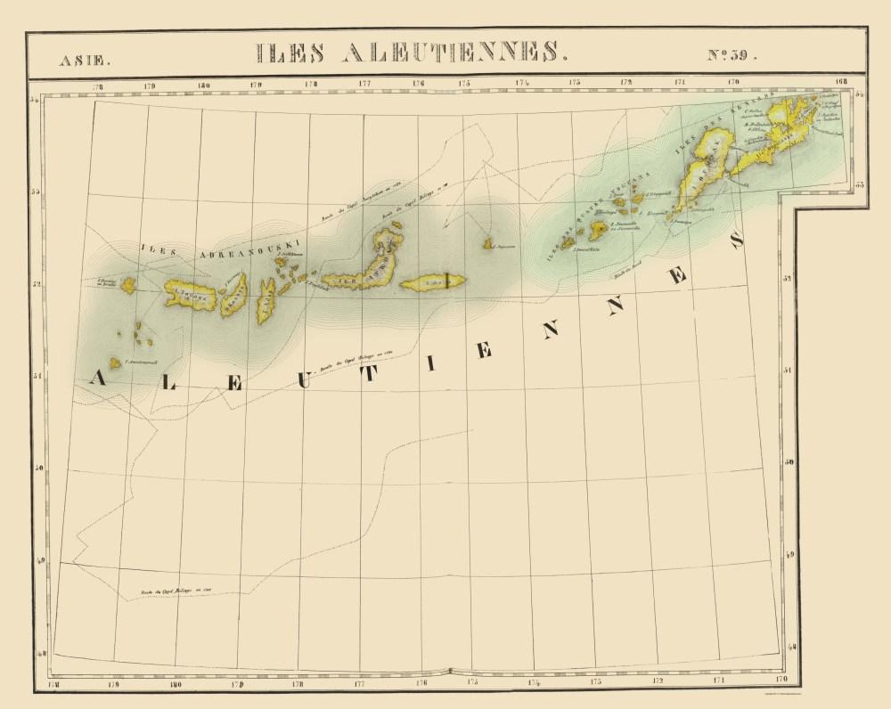 medium resolution of aleutian islands alaska vandermaelen 1827 23 x 28 87