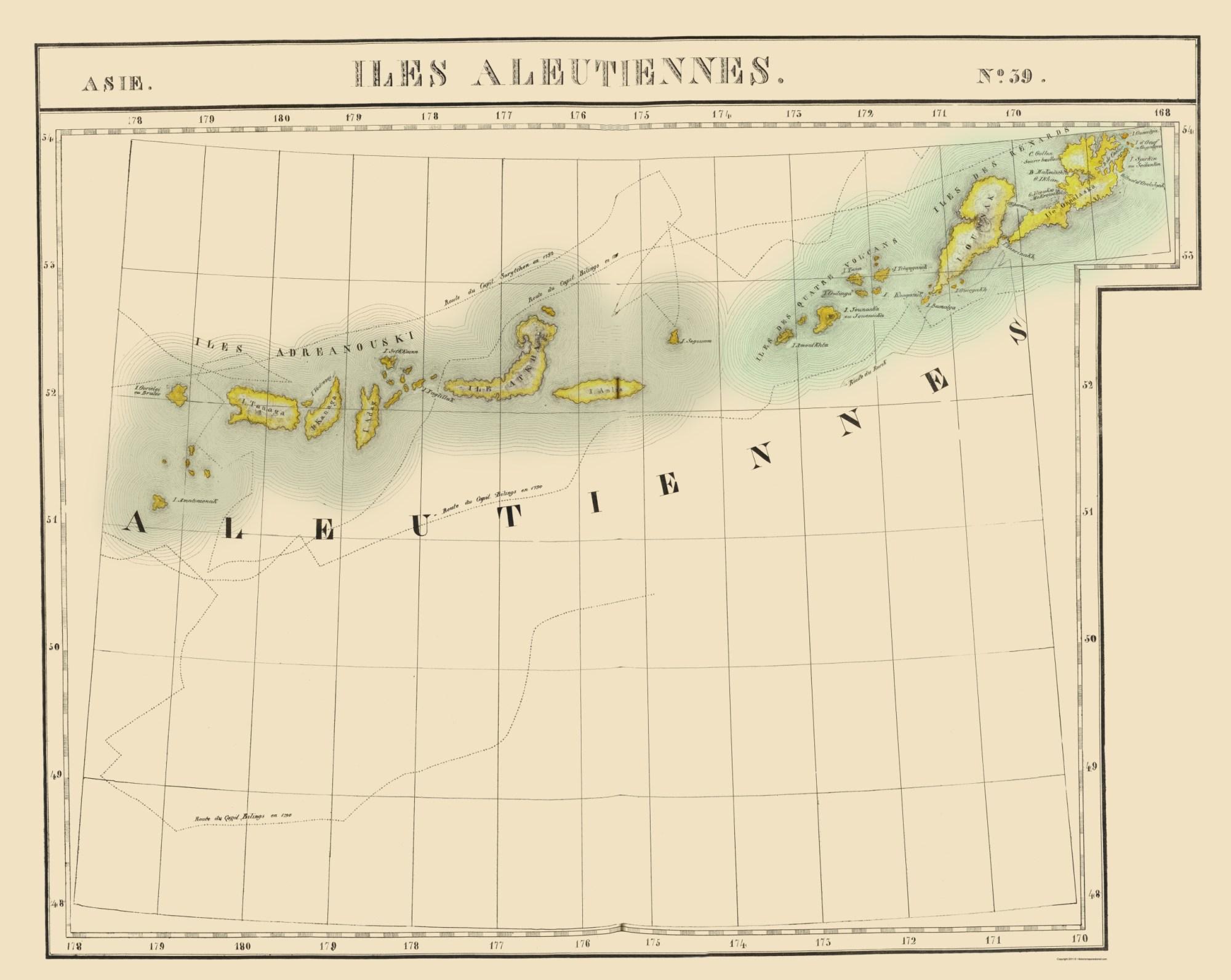 hight resolution of aleutian islands alaska vandermaelen 1827 23 x 28 87