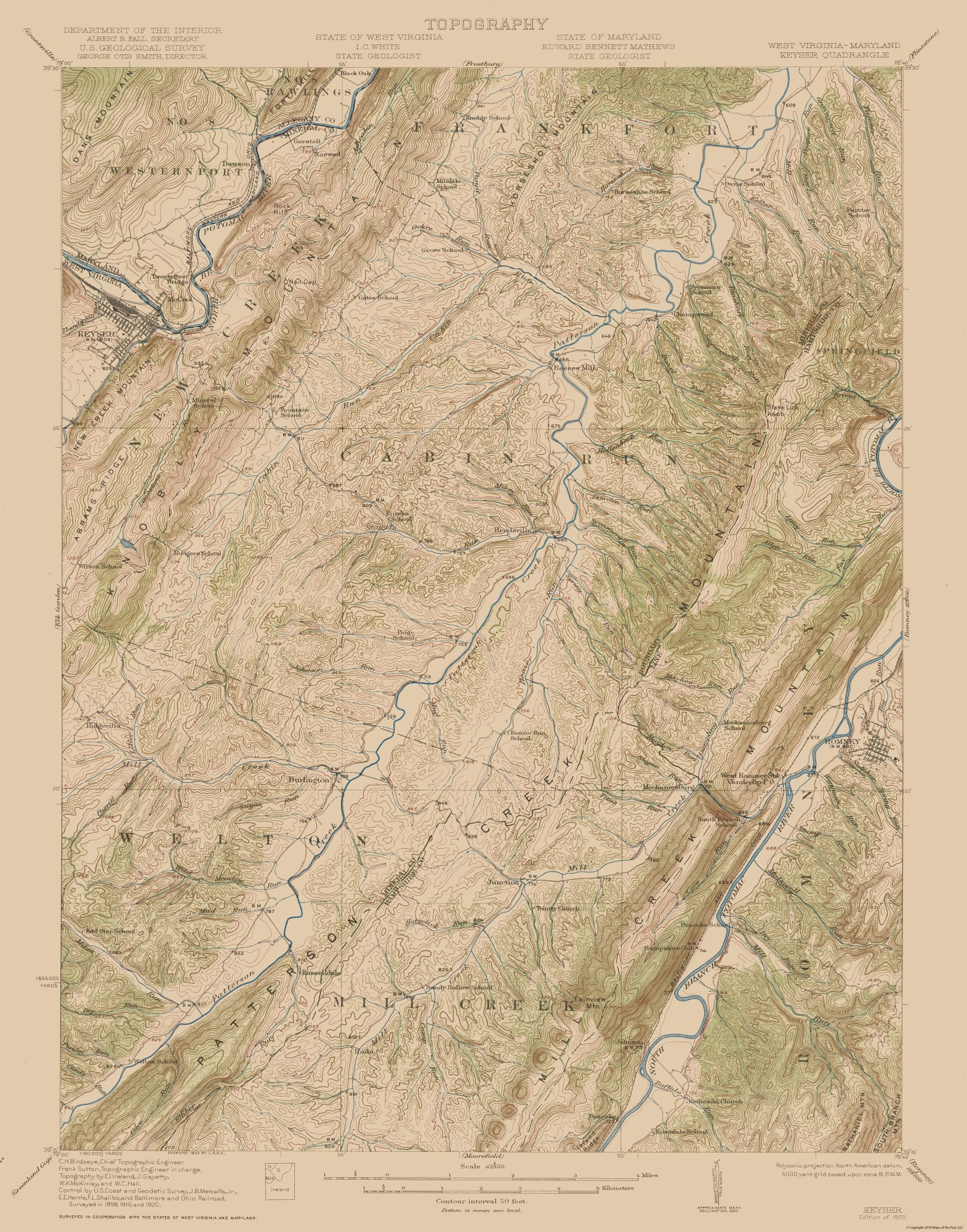 Map Of West Virginia And Maryland