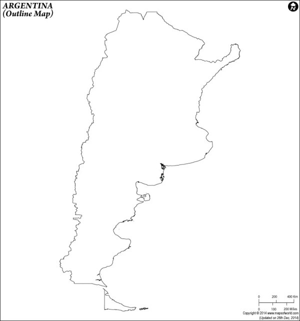 Blank Map of Argentina Argentina Outline Map