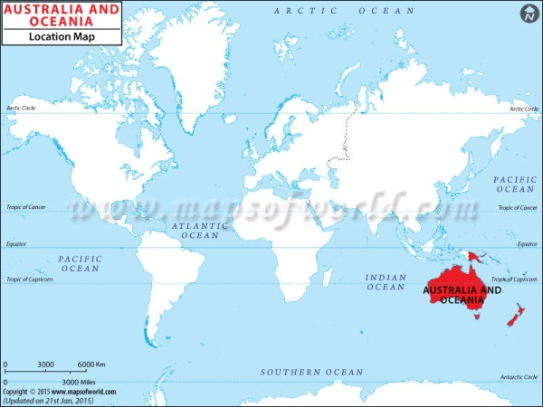 Where is Oceania Oceania Location in World Map