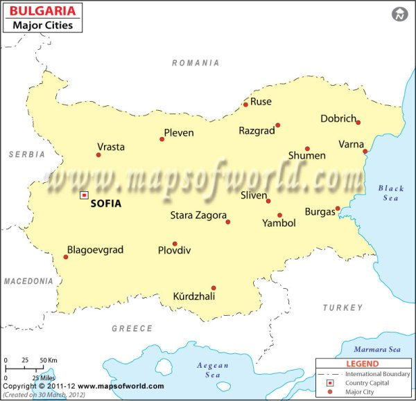 Cities in Bulgaria Map of Bulgaria Cities