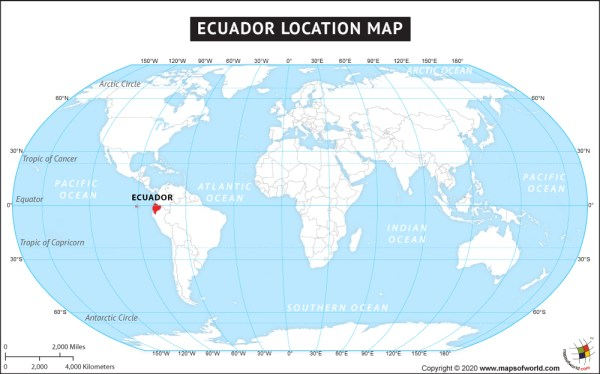 Where is Ecuador Located Location map of Ecuador