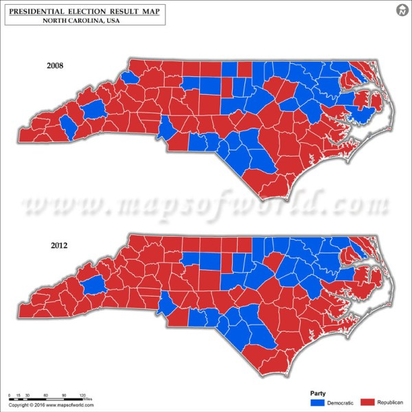 2012 Vs 2016 Election Map - Vtwctr