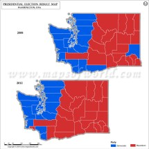 Washington Election Results 2016 - Map County