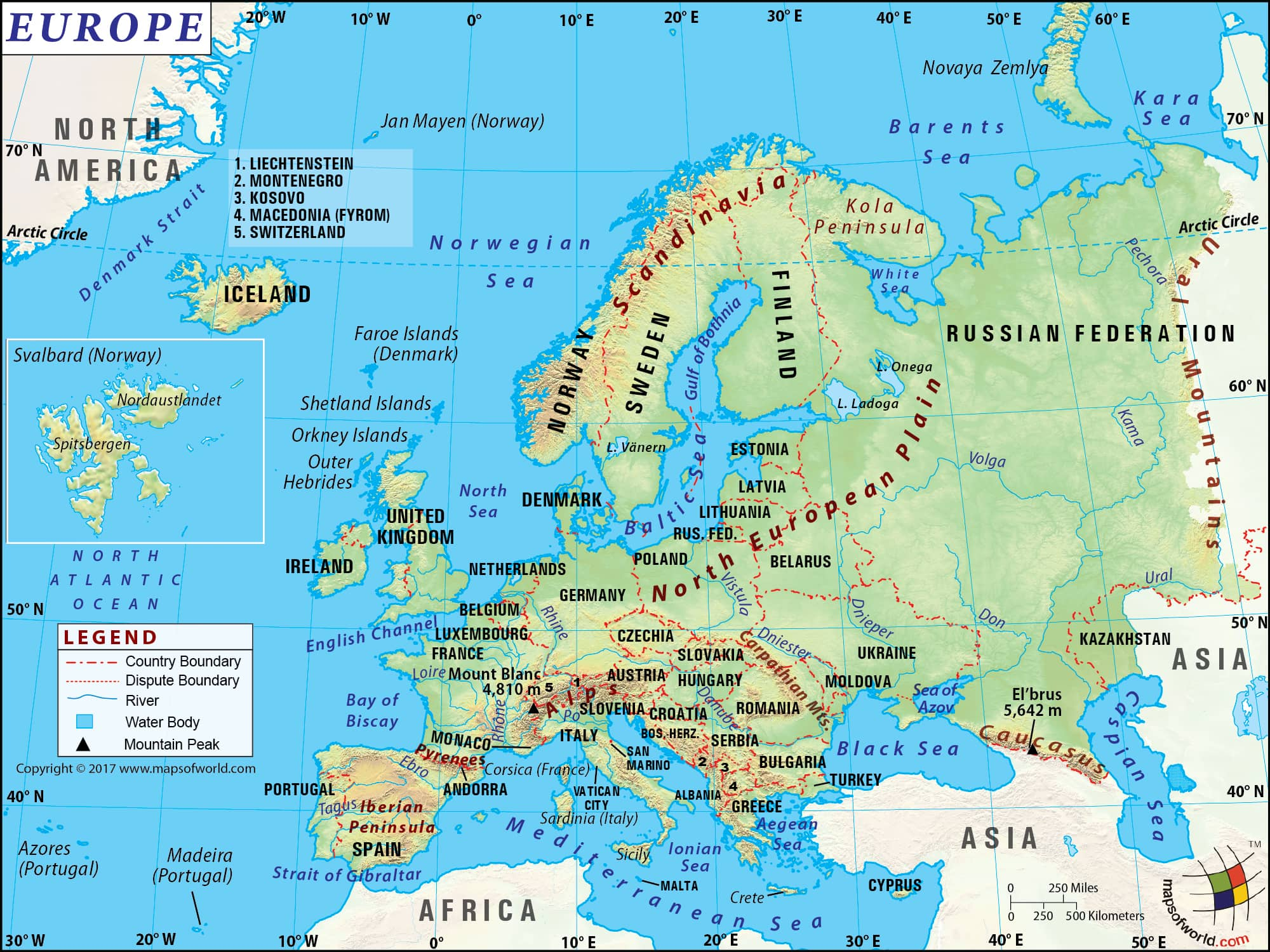 Europe Map Map Of Europe Information And Interesting