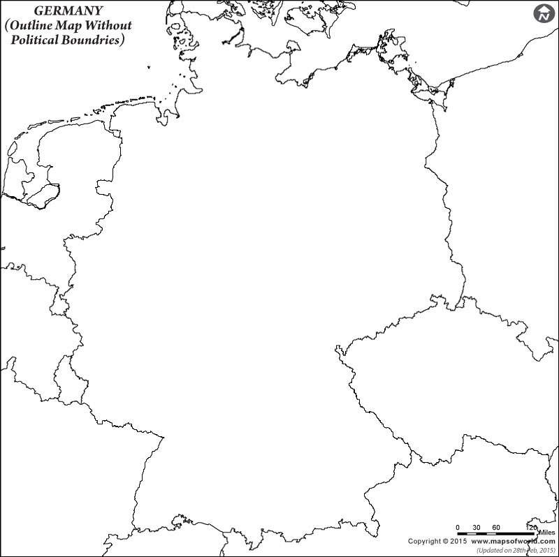 Blank Outline Map Of Germany