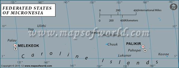 Micronesia Latitude And Longitude Map