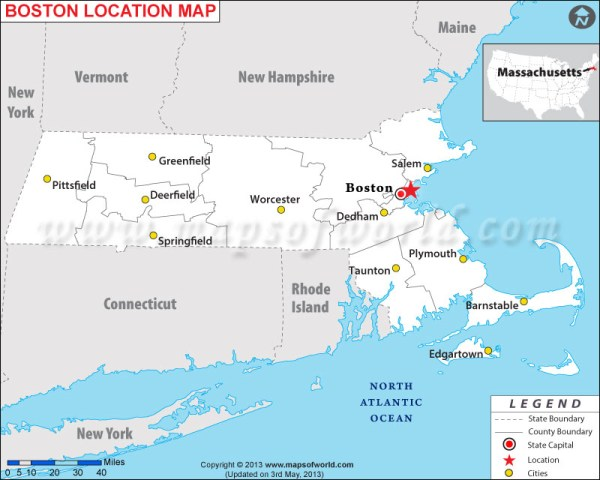 Where is Boston Massachusetts Where is Boston MA