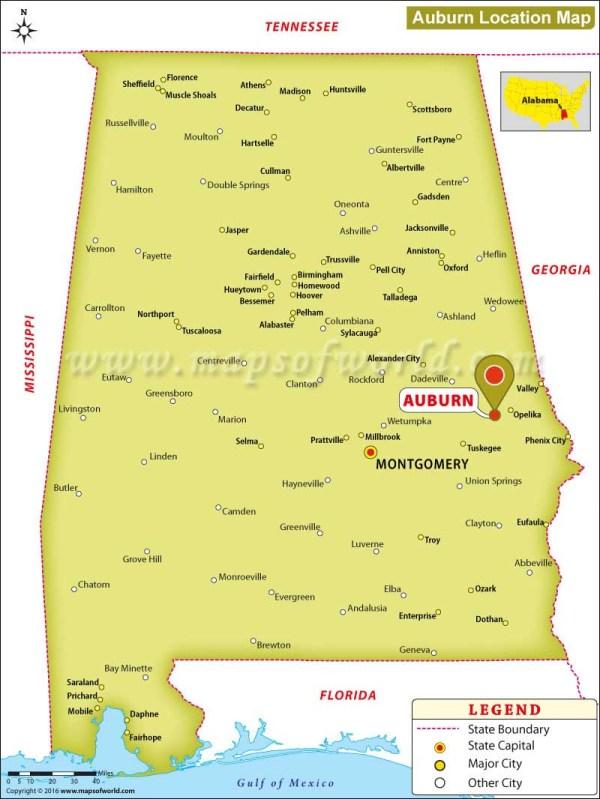 Where is Auburn Alabama