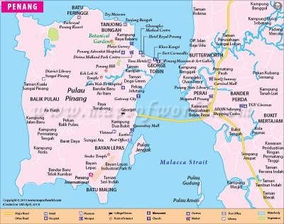 Penang Map | Map of Penang City, Malaysia