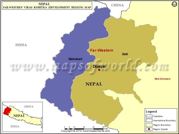 FarWestern Region Map Map of FarWestern Development