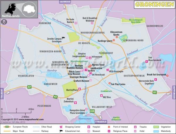 Groningen Map Groningen Netherlands