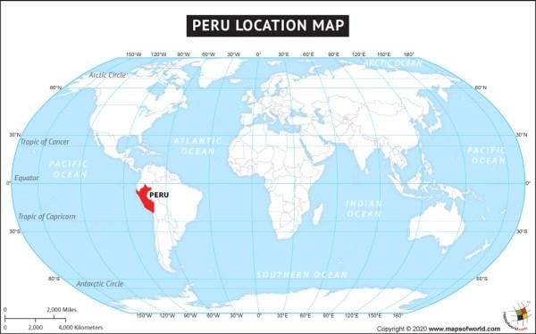 Where is Peru Located Location map of Peru