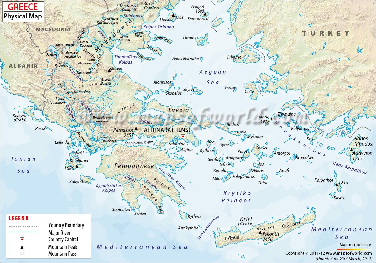 Greek Map Balkan Peninsula