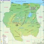 Suriname Map Map Of Suriname