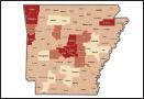 Arkansas Population Map