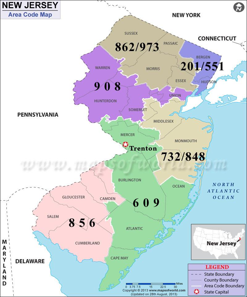 Nj Zip Code Map Counties List