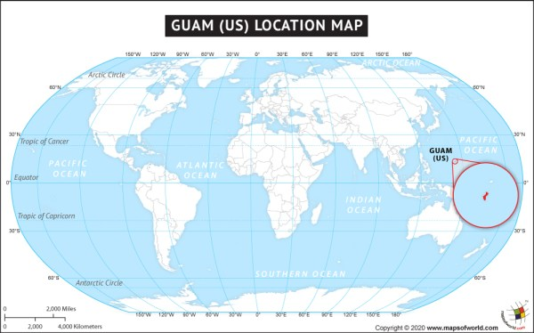 Where is Guam Location Map of Guam