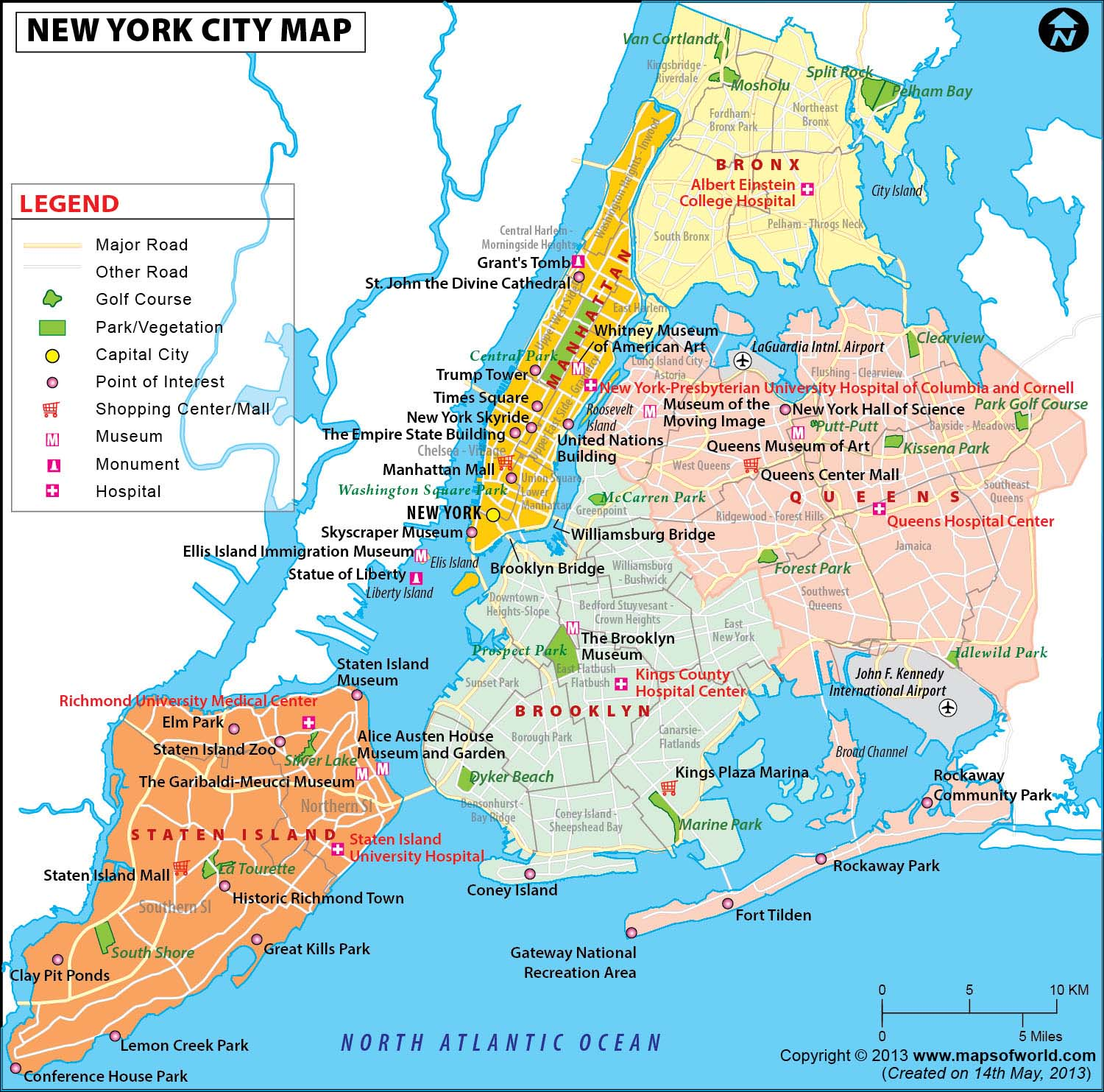 NYC Map Map of New York City Information and Facts of