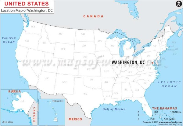 Where is Washington DC District of Columbia Location of