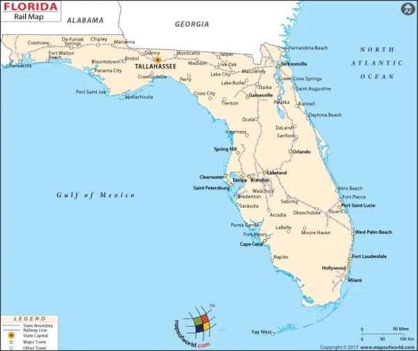 Florida Rail Map Florida Railroad Map