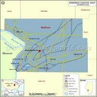 Madison County Map, Illinois