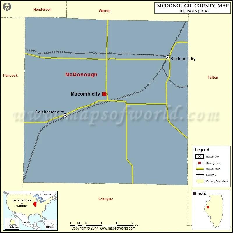 Mcdonough County Map Illinois
