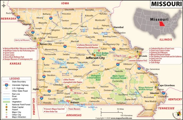 Map of Missouri Missouri Map Maps of Cities and Counties