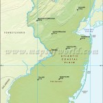 Physical Map Of New Jersey New Jersey Physical Map