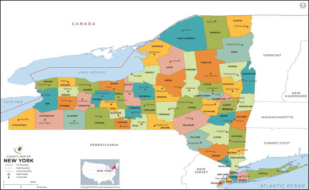 New York County Map | New York Counties