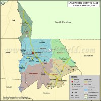 Lancaster County Map, South Carolina