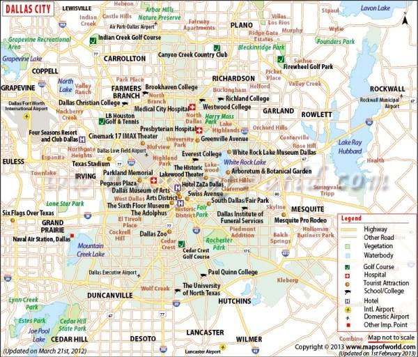 Dallas Map Map of Dallas Texas Dallas Texas Map TX