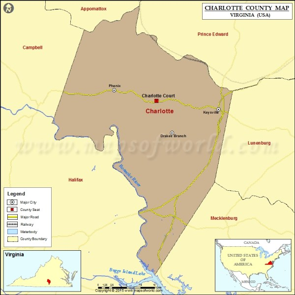 Charlotte County Map Virginia