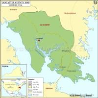 Lancaster County Map, Virginia