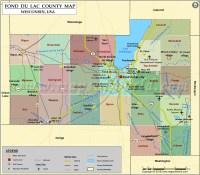 Fond du Lac County Map, Wisconsin