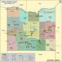 Iowa County Map, Wisconsin