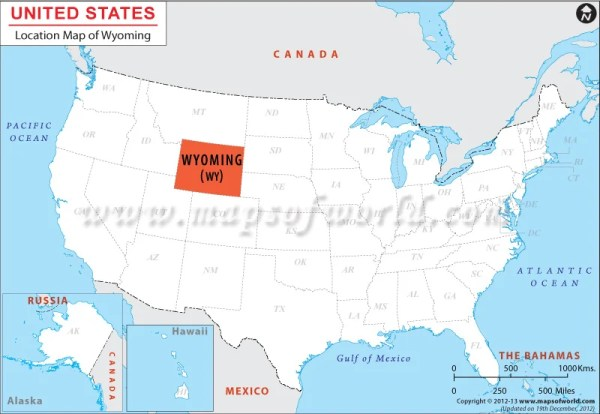 Where is Wyoming Located Location map of Wyoming