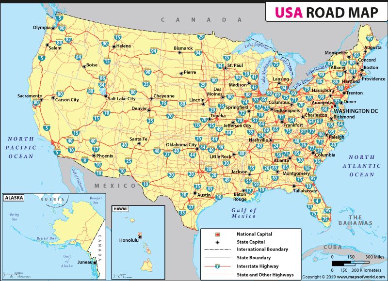 us road map road
