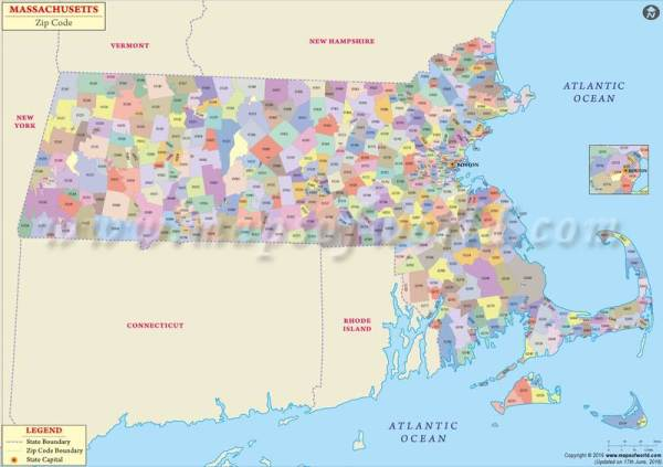 Massachusetts Zip Code Map Massachusetts Postal Code