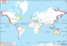Tsunami Zones Around the World