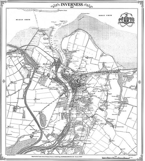 Inverness 1867 Scotland Victorian Town and Village Map
