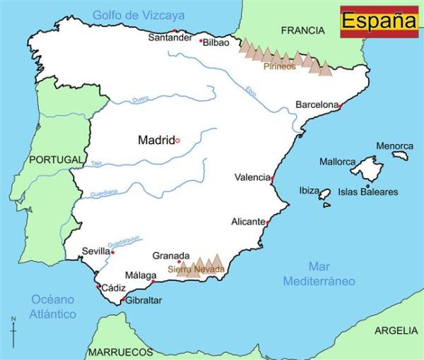 Map Of Spain Wildgoose Map Stop Top maps at a