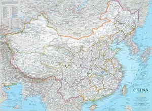 China Wall Map - National Geographic – Political