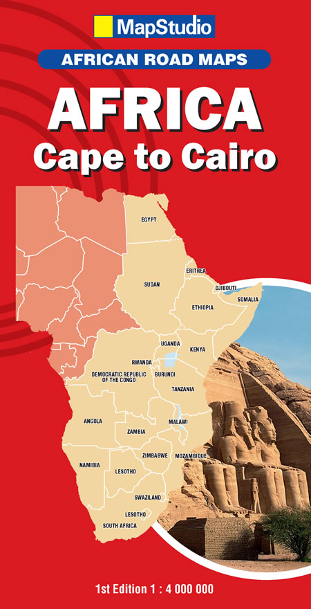 Africa: Cape, Cairo Road Map -ePDF - MapStudio